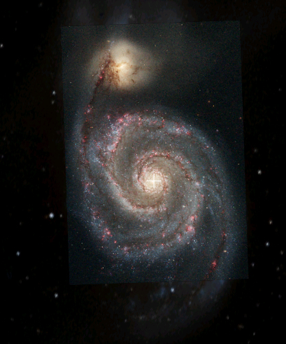 M51. Whirlpool Galaxy