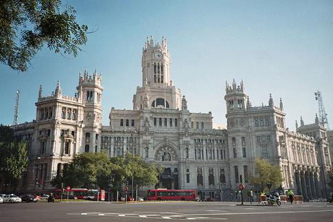Palacio de Comunicaciones (City Hall), at the Plaza de Cibeles (square) in Madrid (Spain)