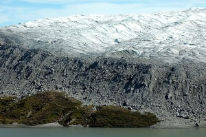 The edge of the Greenland ice sheet, near Kangerlussuaq, is shown. Image credit: Peter West, NSF (Click image to enlarge)