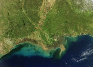 Satellite images of the currents in the Gulf of Mexico. Location: USA. Image credit: Dennis Demcheck, USGS (Click image to enlarge)