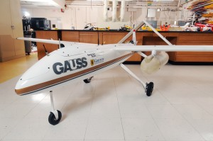 The GTRI Airborne Unmanned Sensor System (GAUSS) is used to evaluate sensing devices in airborne testing. GT Photo by: Gary Meek. (Click image to enlarge)
