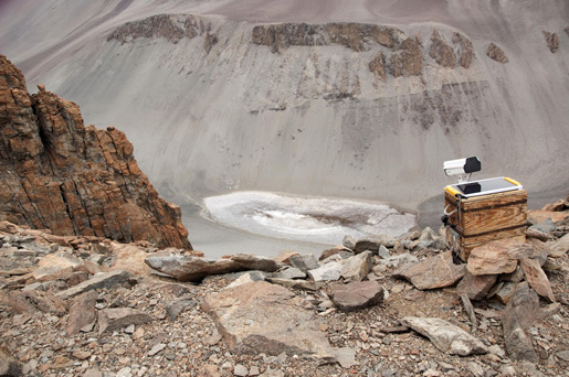 Documenting the saltiest pond on Earth. A camera installed above Don Juan Pond in Antarctica's McMurdo Dry Valleys took 16,000 images in two months, documenting geological processes in real time. The processes that keep Don Juan Pond liquid in Antarctica could be at work on Mars as well. Image credit: Geological Sciences/Brown University