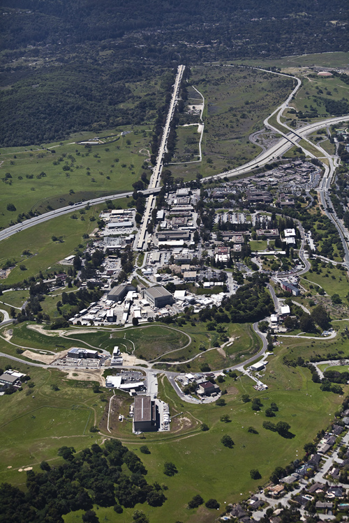 The two mile long Linac Coherent Light Source (LCLS) at the SLAC National Accelerator Laboratory operated by Stanford University is the world's most powerful X-ray laser. (Image courtesy of SLAC)