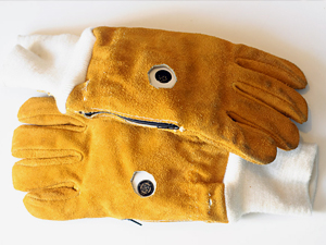 "Prototype ""vibrotactile"" gloves designed at the University of Minnesota. Image credit: University of Minnesota"