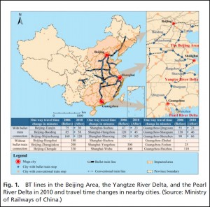 Bullet train lines in China. Image credit. University of California (Click image to enlarge)