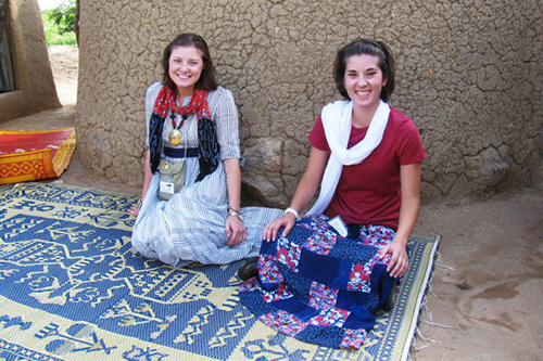 Chelsea Rozanski and Serrena Carlucci have co-founded an organization dedicated to providing safe, accessible education to children in Africa. Photos courtesy of Chelsea Rozanski