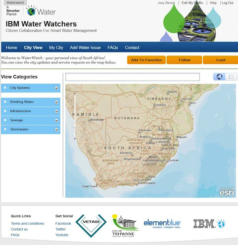 By combining Big Data, mobile technology and crowdsourcing, IBM helps cities gain a better understanding of their water systems. (Image credit:  IBM)