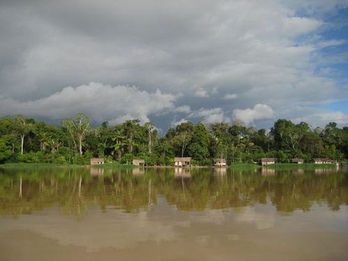 A community in a sustainable-development reserve in the Brazilian Amazon. Image credit: Pete Newton