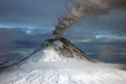 A new study led by the University of Colorado Boulder indicates emissions from moderate volcanoes around the world like the Augustine Volcano in Alaska, shown here, can mask some of the effects of global warming. Image courtesy U.S. Geological Survey
