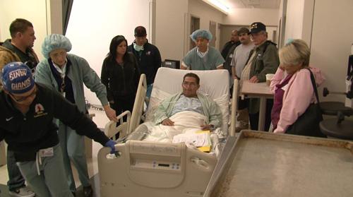 Fernando Padilla on his way to surgery. (Image courtesy of UCLA)