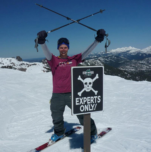 A professional ski instructor, Kevin Ashley couldn't find a ski and snowboard app that met his standards, so he made one himself with the help of a Silicon Valley startup. Image credit: Microsoft