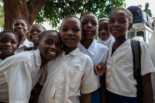 Kids in Milola are excited about their new school. Photo by Gabrielle Kleber