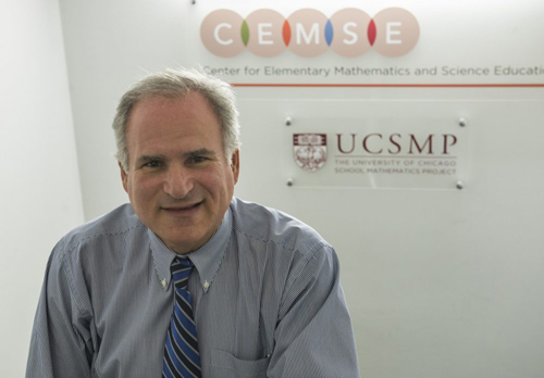As chief mathematics and science officer for Chicago Public Schools, Martin Gartzman led an effort to 2003 to decrease algebra failure rates among CPS ninth-graders. Gartzman now is executive director of UChicago's Center for Elementary Mathematics and Science Education. Photo by Robert Kozloff