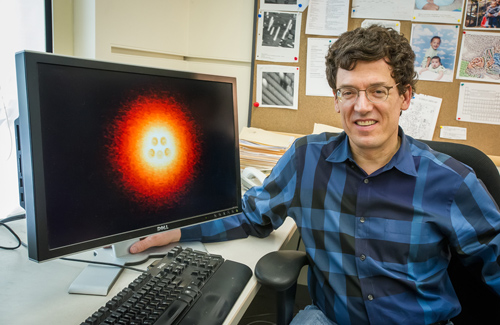 Michael Crommie is a physicist who holds joint appointments with Berkeley Lab's Materials Sciences Division and UC Berkeley's Physics Department. (Photo by Roy Kaltschmidt)