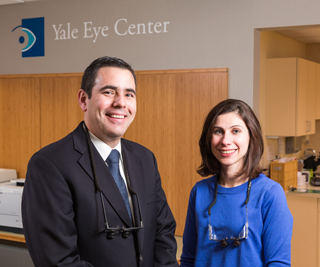 Drs. Servat and Levin feel knowledge of the eye and its anatomy make a significant difference in their plastic surgeries. Photo by Robert Lisak