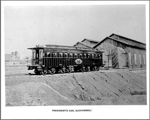 The president's private car at Alexandria, Va. (Image credit: Library of Congress)