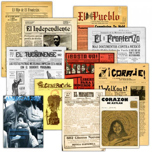 """UA librarian Chris Kollen said that because the newly digitized collection includes eight newspapers published in Tucson from 1882 to the 1970s, people will be able to get """"a clearer picture of the Mexican American community in Tucson."""" (Photo courtesy of the UA Libraries)"""
