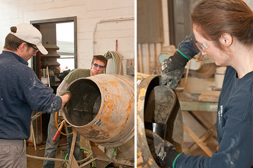 UD professors are working to design a method to use microbes to identify ASR-damaged concrete before visible cracks appear. Photos by Doug Baker
