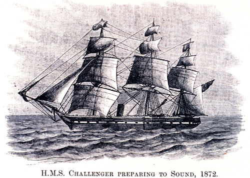 Drawing of the HMS Challenger survey vessel preparing to measure ocean temperatures by lowering thermometers deep into the ocean on ropes in 1872. A new NASA and University of Tasmania study combined the ship's 135-plus-year-old measurements of ocean temperatures with modern observations to get a picture of how the world's ocean has changed since the Challenger's voyage. The research reveals that warming of Earth can be clearly detected since 1873, with the ocean absorbing the majority of the heat. Image credit: NOAA
