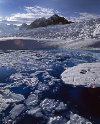 Melt from Alaska's Columbia Glacier and other glaciers around the world contributed as much to global sea rise as the Greenland and Antarctic ice sheets combined from 2003 and 2009. Photo courtesy Tad Pfeffer, University of Colorado