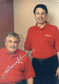 Rick Rashid with James Doohan. The crown jewel in Chief Research Officer Rick Rashid's office is this photo with James Doohan, aka Scotty, with whom he shared a stage years ago at a special Microsoft event. Image credit: Microsoft
