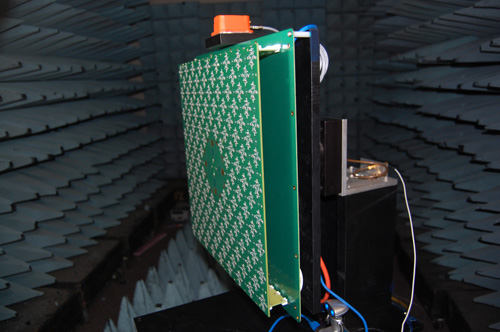 Image shows an Agile Aperture Antenna being tested in a Georgia Tech compact range. Image credit: Georgia Tech Research Institute (GTRI)