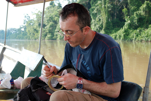 Jorge Celi helps unravel the mystery of the Napo River. Image courtesy of Kateryna Rybachuk.