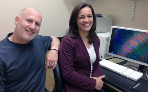 Timing is everything. Mark Zervas and Elizabeth Normand found that the timing of gene mutation during thalamus development makes a huge difference in the severity of tuberous sclerosis complex. Image credit: Brown University