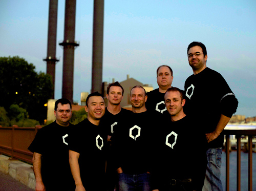 QONQR Team. The QONQR development team, left to right, includes Jeff Diercks, partner; Dave MacDonald, partner; Donn Felker, partner; Jessy Houle, partner; Justin Peck, partner; Scott Davis, partner and CEO; and Andy Pickett, partner. Image credit: Microsoft