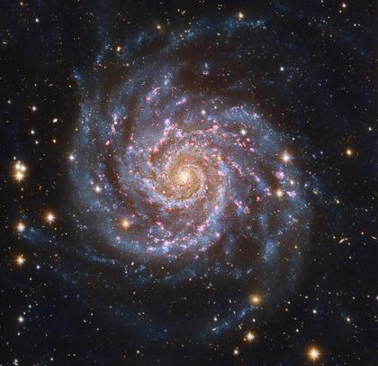 A new CU-Boulder study indicates spiral galaxies like our Milky Way, and the M74 Galaxy shown here, are larger and more massive than previously believed. Image courtesy of NASA