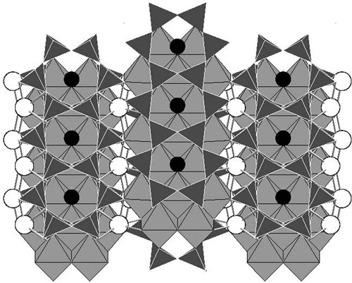 The Ring Cycle. Amphibole's lattice structure is made up of tetrahedral and octahedral structures linked together in a way that creates a series of rings. It's those rings — A-sites — that could provide a home for otherwise finicky noble gases. Image credit: Parman lab/Brown University
