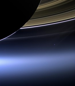 The Day the Earth Smiled: Sneak Preview. In this rare image taken on July 19, 2013, the wide-angle camera on NASA's Cassini spacecraft has captured Saturn's rings and our planet Earth and its moon in the same frame. Image Credit: NASA/JPL-Caltech/Space Science Institute (Click image for larger view)