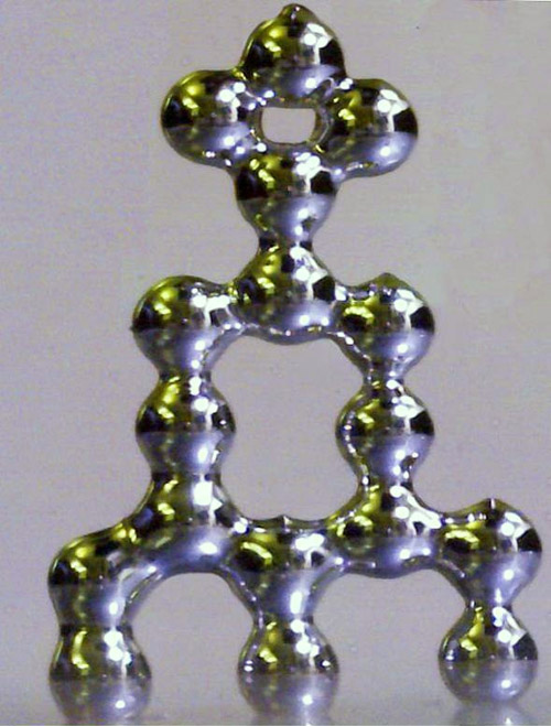 Researchers have developed three-dimensional structures out of liquid metal. Image credit: Michael Dickey.