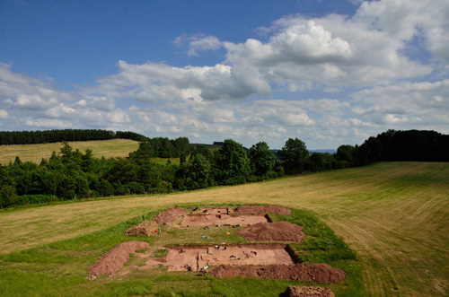 Excavations at Dorstone Hill in the UK. Image credit: University of Manchester