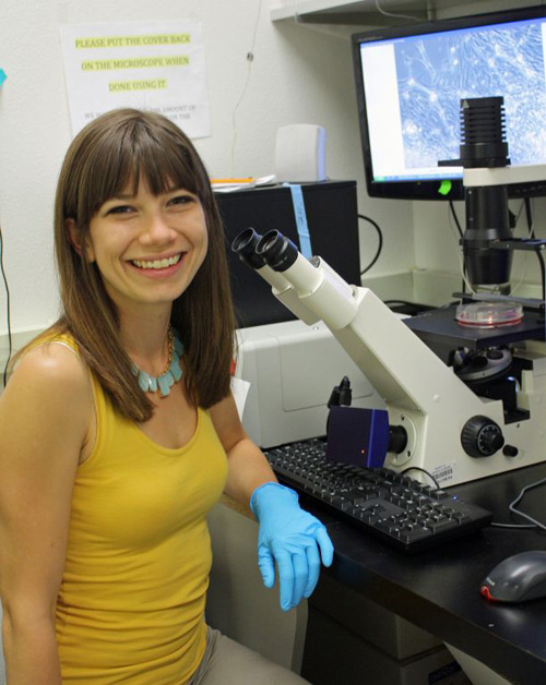 2nd year UA doctoral student Sara Parker led the research. (Photo by: Beatriz Verdugo/UANews)