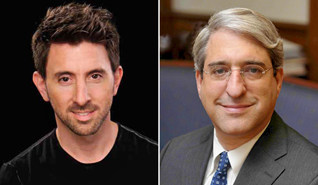 Drawing on the work of Yale psychologist and President Peter Salovey (right), Marc Brackett (left) — who succeeded Salovey as director of the Yale Center for Emotional Intelligence — developed a school-based program called RULER to teach emotional intelligence. Image credit: Yale University