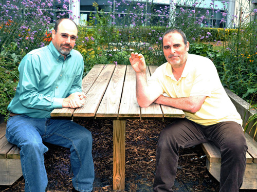 Professor Richard Preziosi is on the left and Dr David Penney is on the right. Image credit: University of Manchester