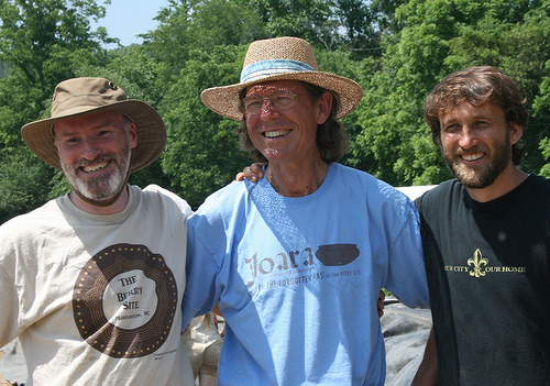Rob Beck, Dave Moore, and Chris Rodning.  Images courtesy of the Exploring Joara Project