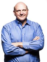 Steve Ballmer is CEO of Microsoft, headquartered in Redmond, Wash. Image credit: Microsoft