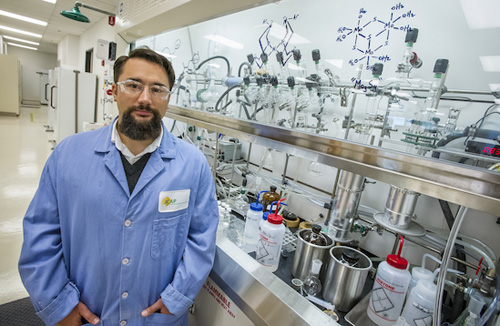 Gary Moore is a chemist with Berkeley Lab's Physical Biosciences Division and principal investigator for the Joint Center for Artificial Photosynthesis. (Photo by Roy Kaltschmidt)