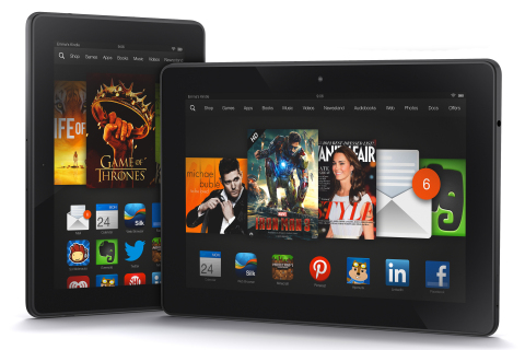 Kindle Fire HDX Family (Photo credit: Business Wire)
