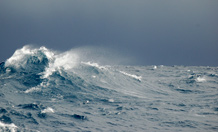 Working in some of the wildest waters on the planet, researchers measured mixing of water in the Southern Ocean. Image credit: Susie Grant and British Antarctic Survey.