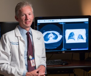 Rob Goodman, MD, began changing the use of CT scans for pediatric patients in 2003. Photo by Robert Lisak