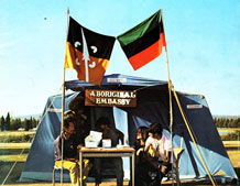 Front book cover: The Aboriginal Tent Embassy: Sovereignty, Black Power, Land Rights and the State. Image credit: University of Exeter