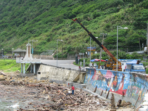 Typhoon Morakot, which struck in Aug. 2009, was one of the most destructive storms ever to hit Taiwan, causing widespread damage and killing several hundred people. It dropped up to 2 meters of rain in just 5 days in the mountains and drastically altered the flow of water along the nearby continental shelf. (Photo by Frank Bahr, Woods Hole Oceanographic Institution)