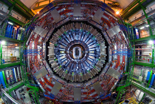 """A research tool for the 21st century. """"Nature made the Higgs boson massive enough that we needed the Large Hadron Collider to produce it in the laboratory. Staggeringly high energies were needed so that we could confirm by experiment that the Higgs boson indeed exists."""" Image credit: Brown University"""