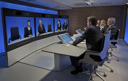 Video Conferencing. Image courtesy of TANDBERG Corporation