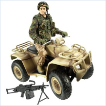 The research will focus on the military action figure toy range, Her Majesty's Armed Forces (HMAF) dolls. Image credit: University of Exeter