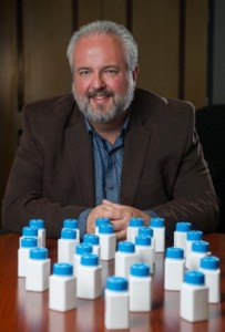 Brad Fain, a Georgia Tech Research Institute (GTRI) principal research scientist, has assisted Pfizer in developing an easy to open bottle for people with arthritis. (Image credit: Georgia Tech Photo by Rob Felt)