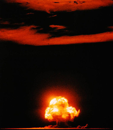 Between 1945 and 1963, hundreds of above-ground nuclear blasts took place around the world Image credit: Jack W. Aeby (Image source: Wikipedia)